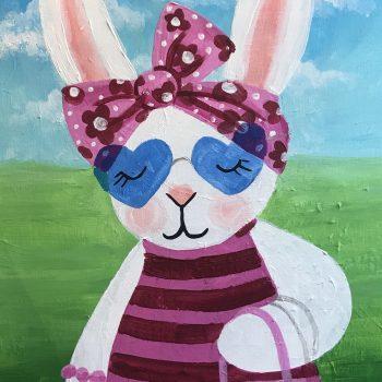 bunny in a head scarf