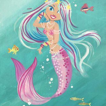 pearl covered mermaid