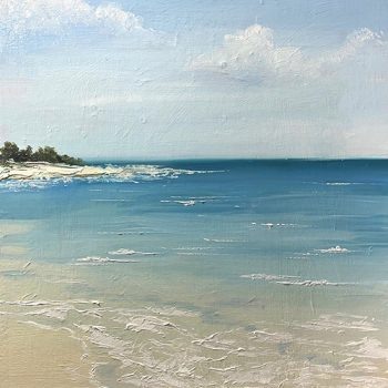 Oil painting of sea